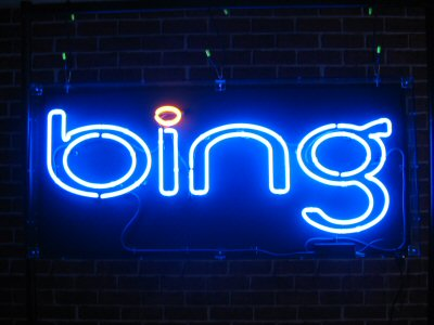 bing-blue neon